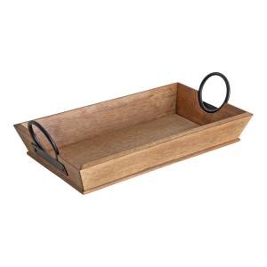 Stillright 17 in. x 4 in. Natural Rectangle Decorative Tray