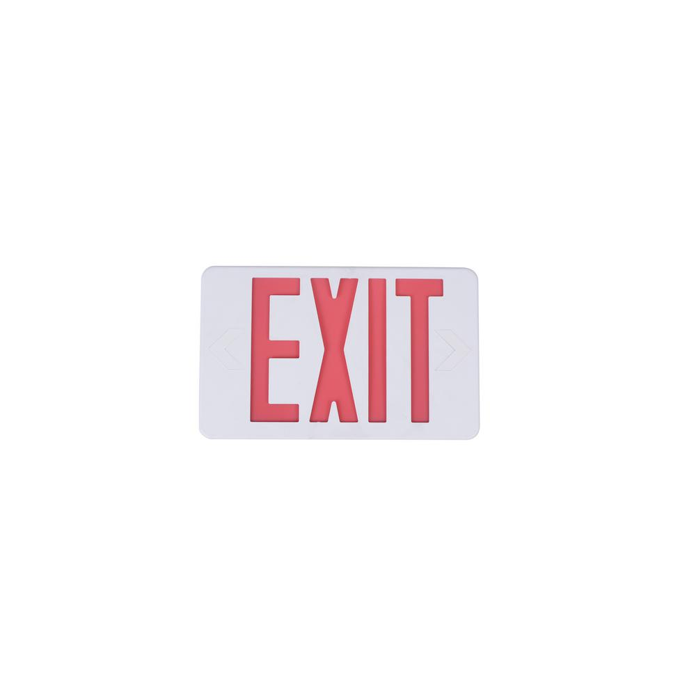 Commercial Electric 120-277-Volt with Ni-Cad 4.8-Volt White Integrated LED Exit Sign