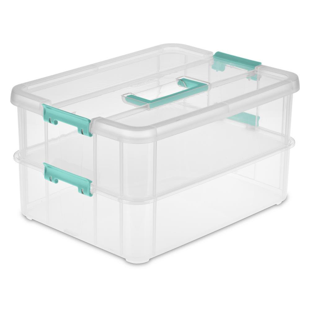 Stack and Carry 2 Layer Storage Organizer