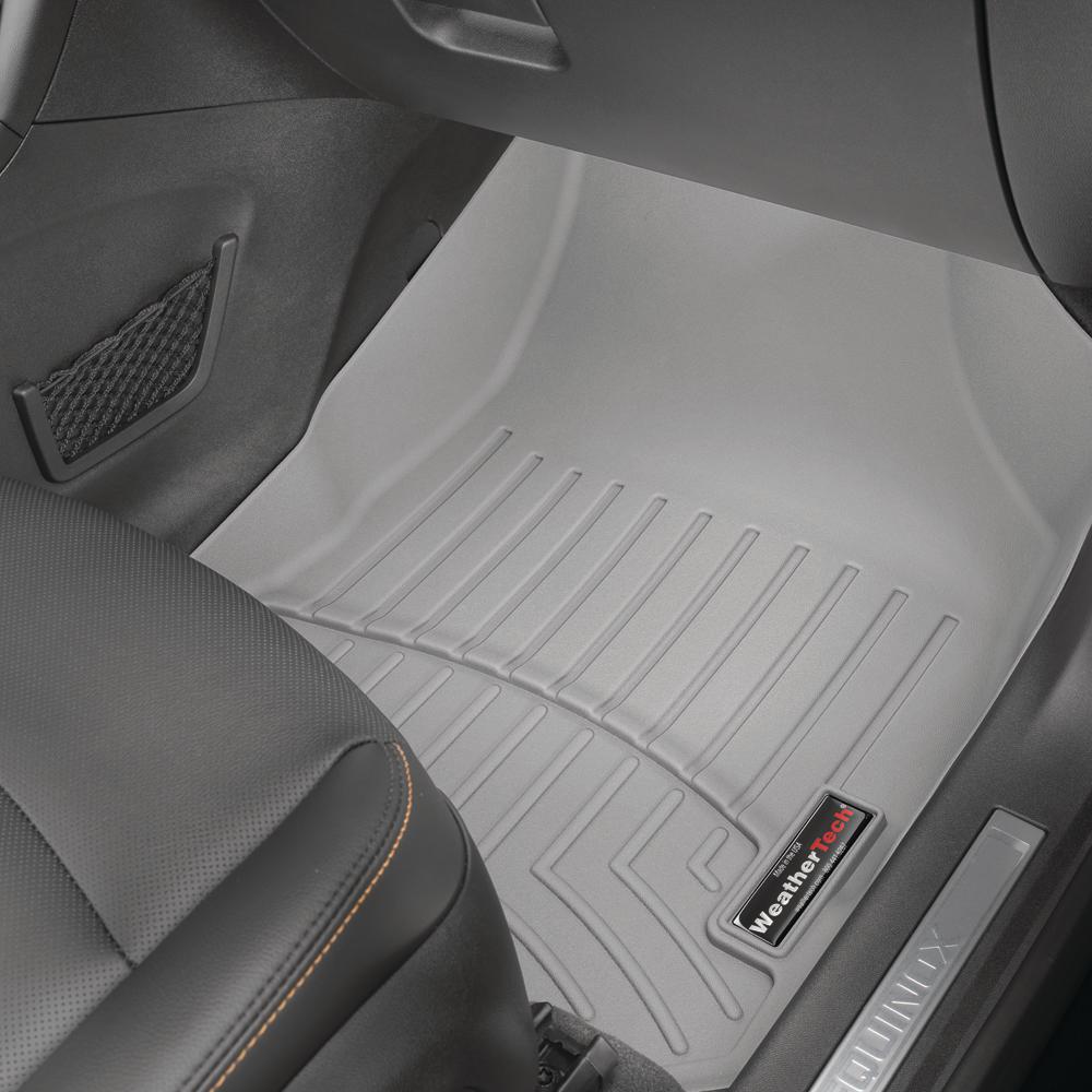 Weathertech Grey Front Floorliner Subaru Impreza 2012 2014 Does Not Fit Wrx Models 464391 The Home Depot