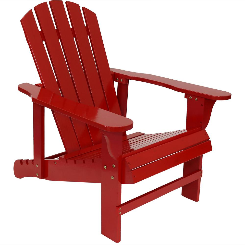 Miraculous Sunnydaze Decor 250 Lbs Capacity Red Wooden Outdoor Adirondack Chair With Adjustable Backrest Gmtry Best Dining Table And Chair Ideas Images Gmtryco
