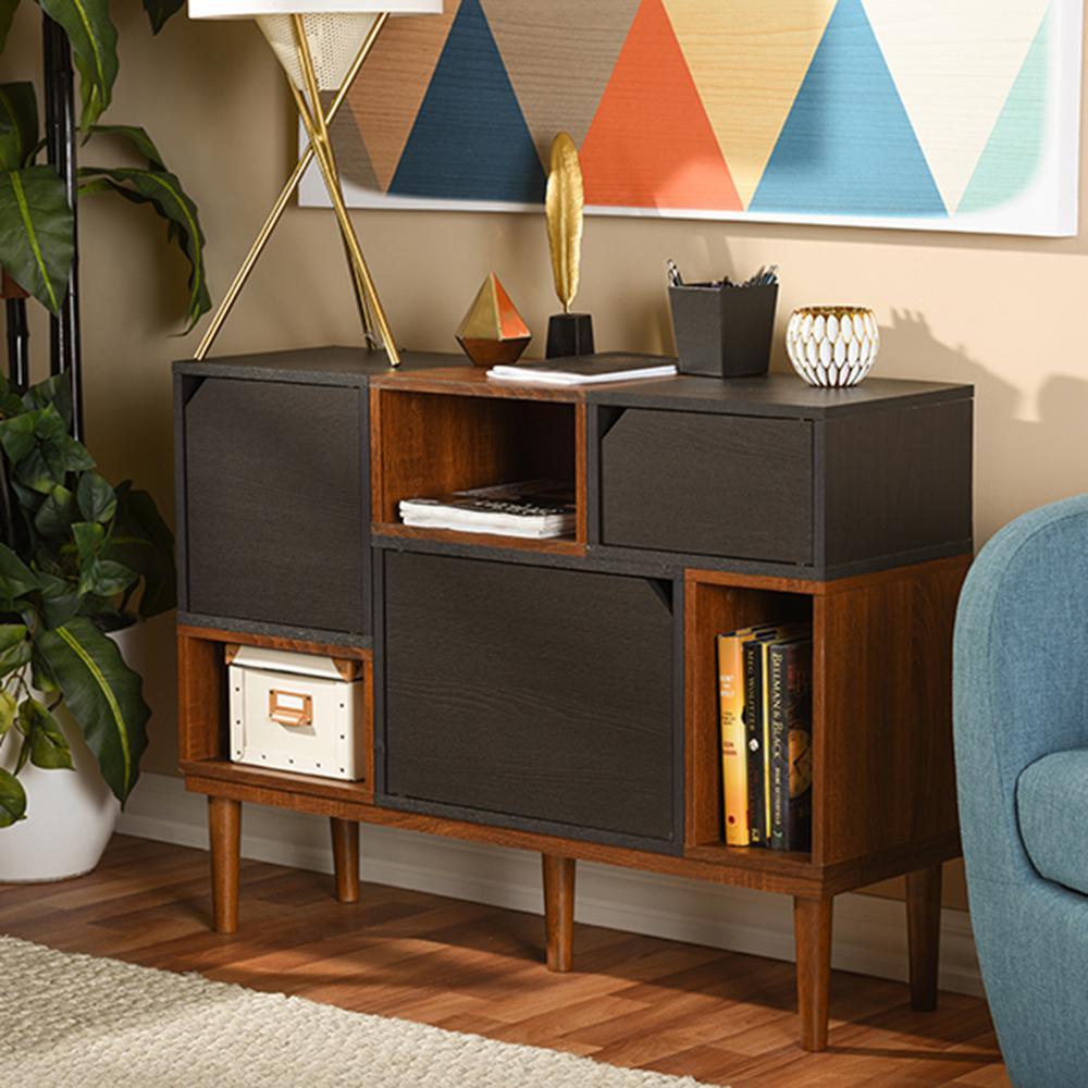 Baxton Studio Anderson Dark Brown Storage Cabinet