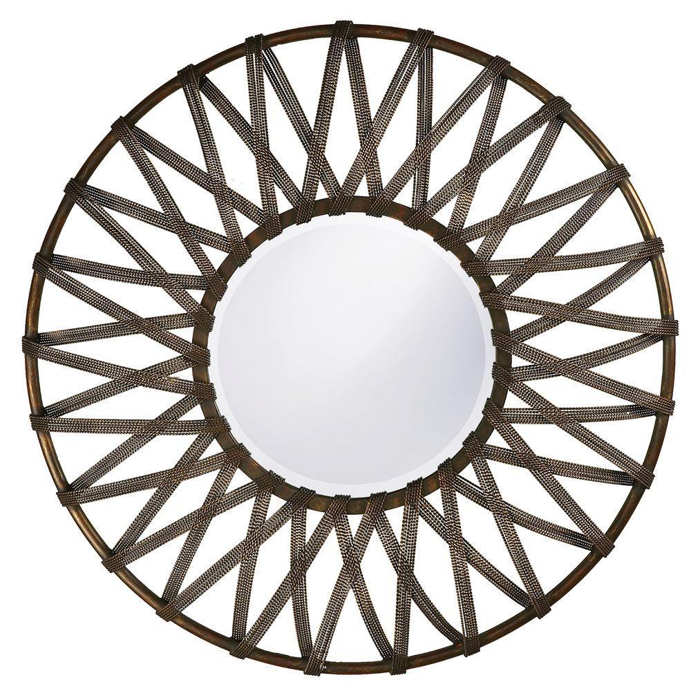 null 32 in. x 32 in. Metal Framed Mirror
