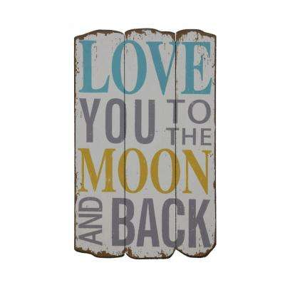 """19 in. H x 11.75 in. W """"To The Moon and Back"""" Wall Plaque"""