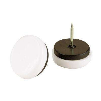 1-1/8 in. Nail-On Floor Protection Glides with Plastic Base (4 per Pack)