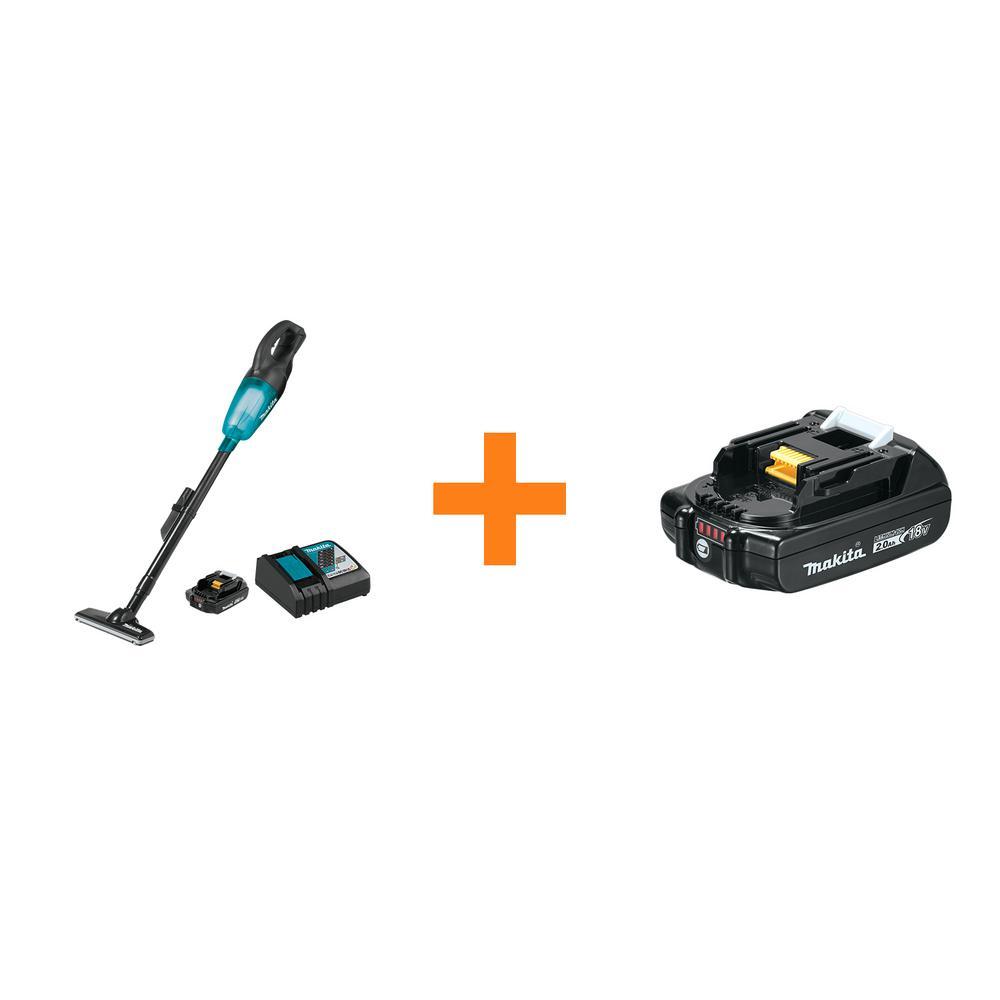 Makita 18-Volt LXT Lithium-Ion Compact Handheld Cordless Vacuum Kit, 2.0Ah with bonus 18-Volt LXT Compact 2.0Ah Battery was $258.0 now $179.0 (31.0% off)