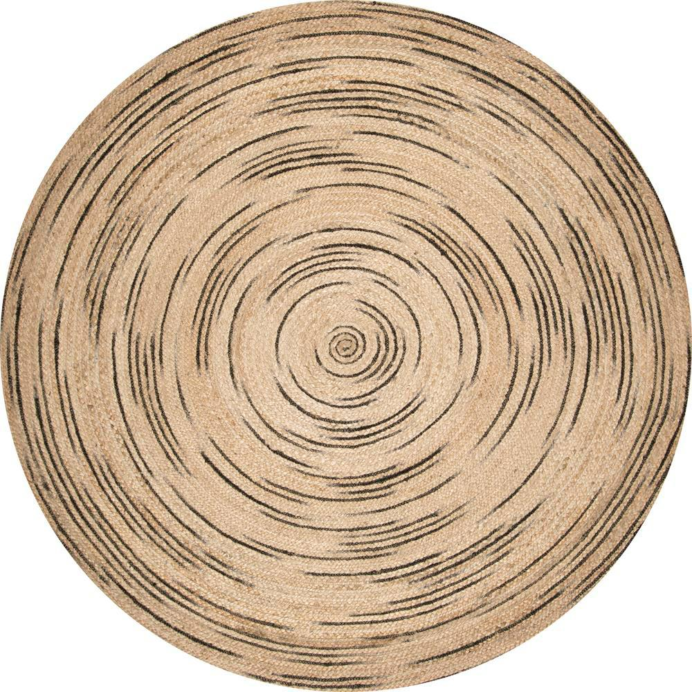 Nuloom Braided Chelsea Jute Natural 8 Ft X 8 Ft Round Rug