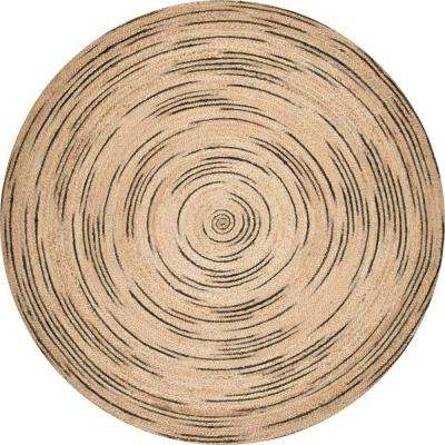 Braided Chelsea Jute Natural 8 ft. x 8 ft. Round Rug