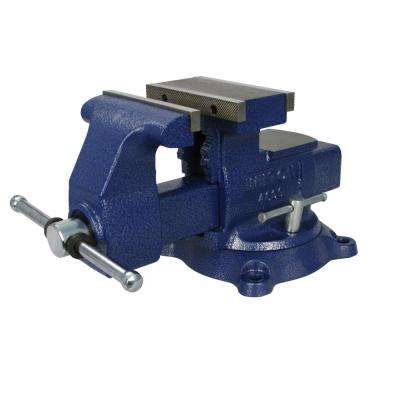 Reversible Mechanics Vise 6-1/2 in. Jaw with Swivel Base