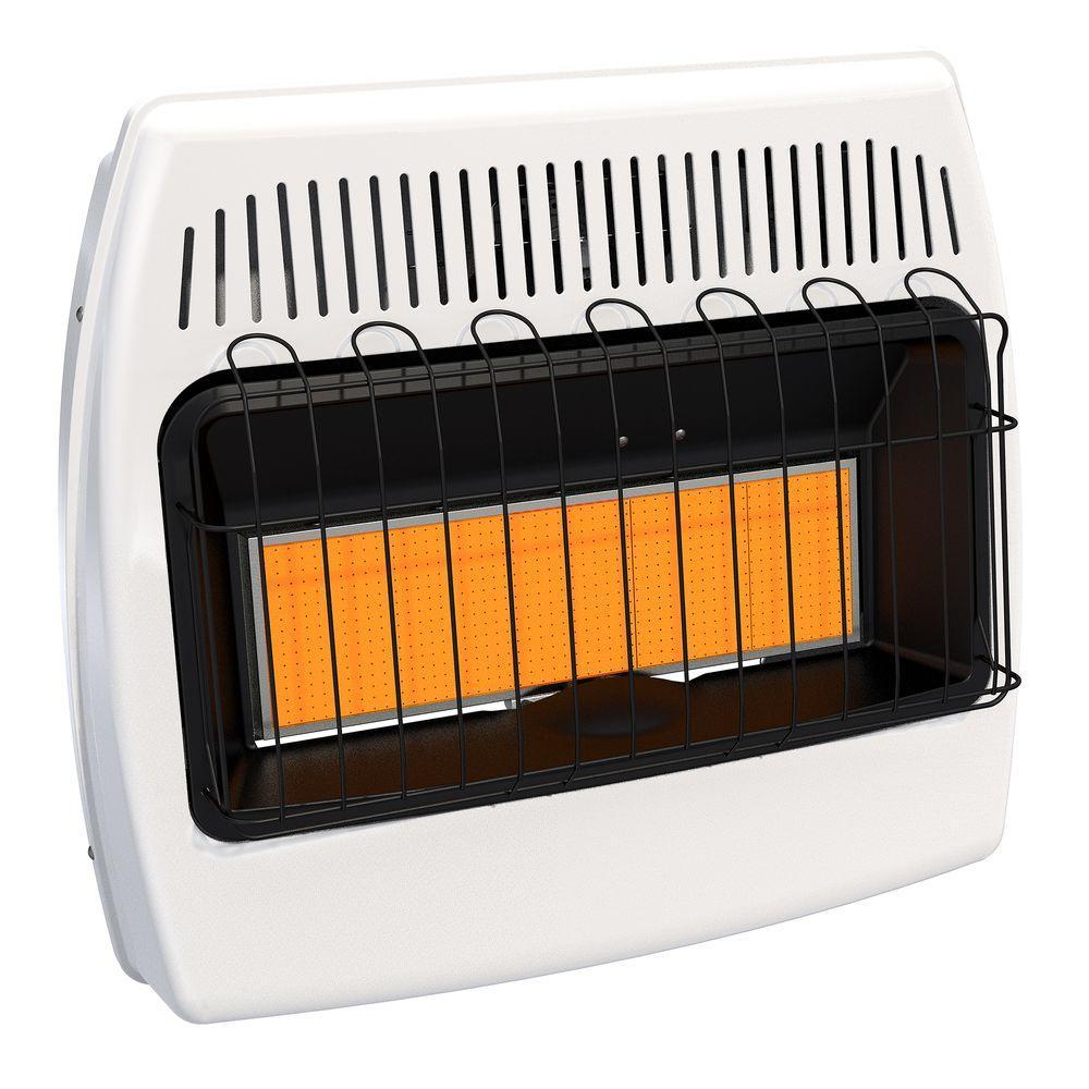 30,000 BTU Natural Gas Infrared Natural Gas Wall Heater