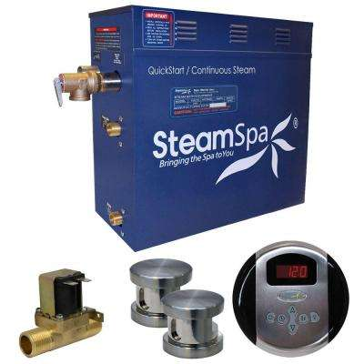 Oasis 10.5kW QuickStart Steam Bath Generator Package with Built-In Auto Drain in Brushed Nickel
