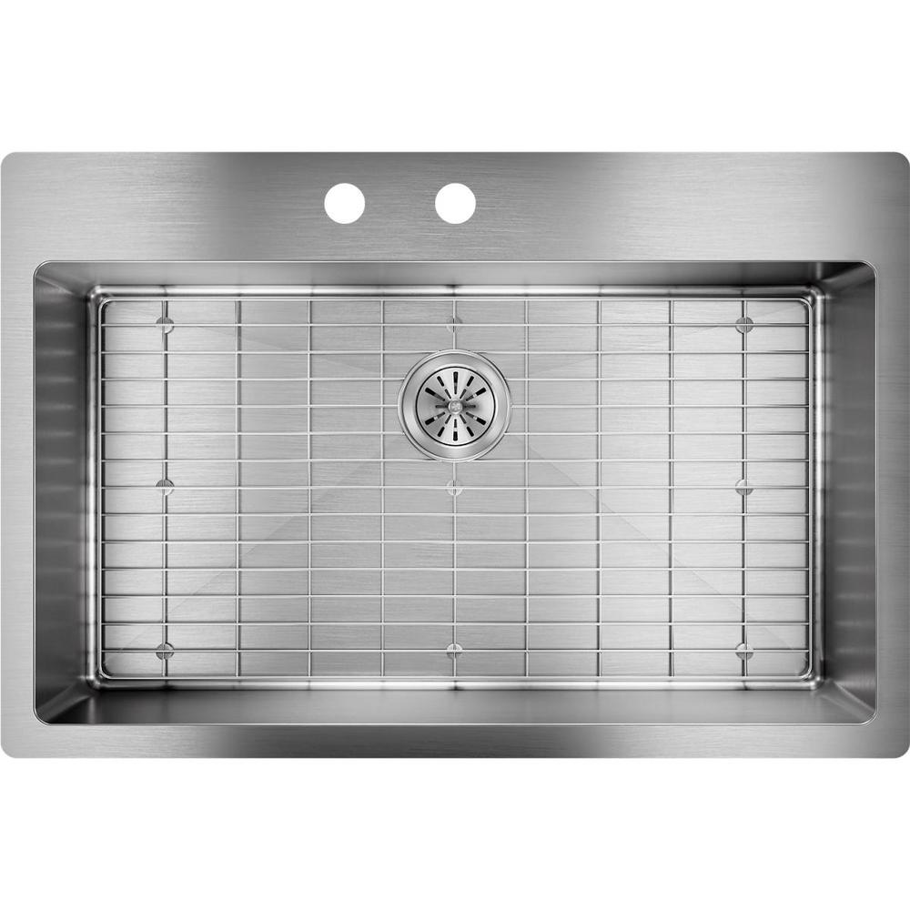 Elkay Kitchen Sinks: Elkay Crosstown Dual Mount Stainless Steel 33 In. 2-Hole
