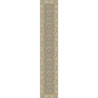 Lyndhurst Light Blue/Ivory 2 ft. x 18 ft. Runner Rug