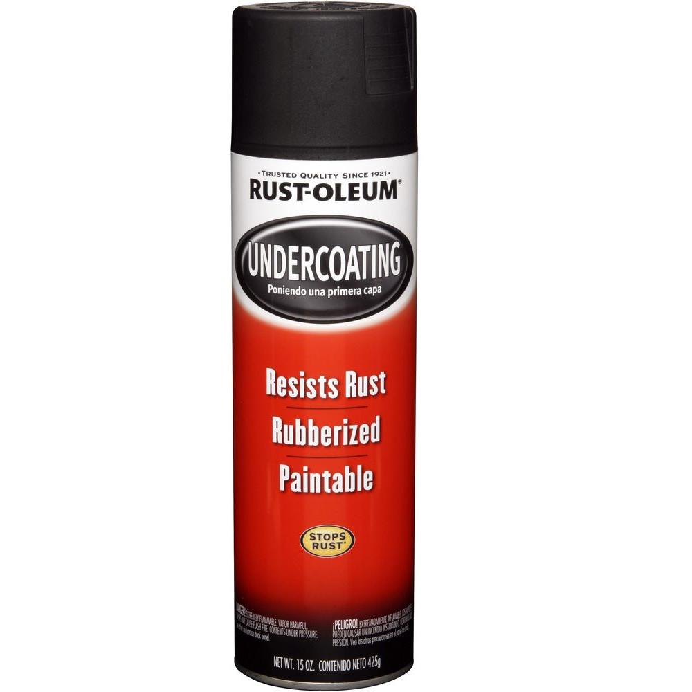 Rust oleum automotive 15 oz rubberized undercoating black for Spray paint for furniture home depot
