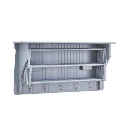 36 in. Light Grey Wall Retractable Accordion Drying Rack
