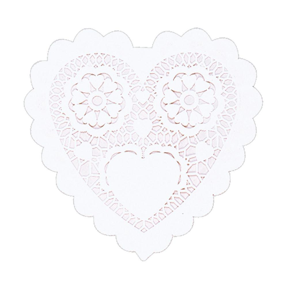 AMSCAN 3.5 in. Valentine's Day White Paper Heart Shaped D...