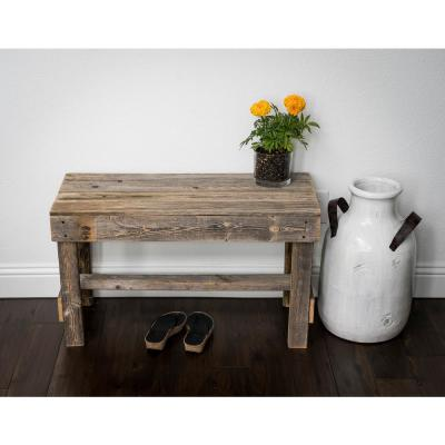Reclaimed Barnwood Natural Bench