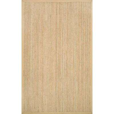 Elijah Seagrass with Border Beige 8 ft. x 8 ft. Square Area Rug
