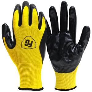 Nitrile Coated Gloves (10-Pair)