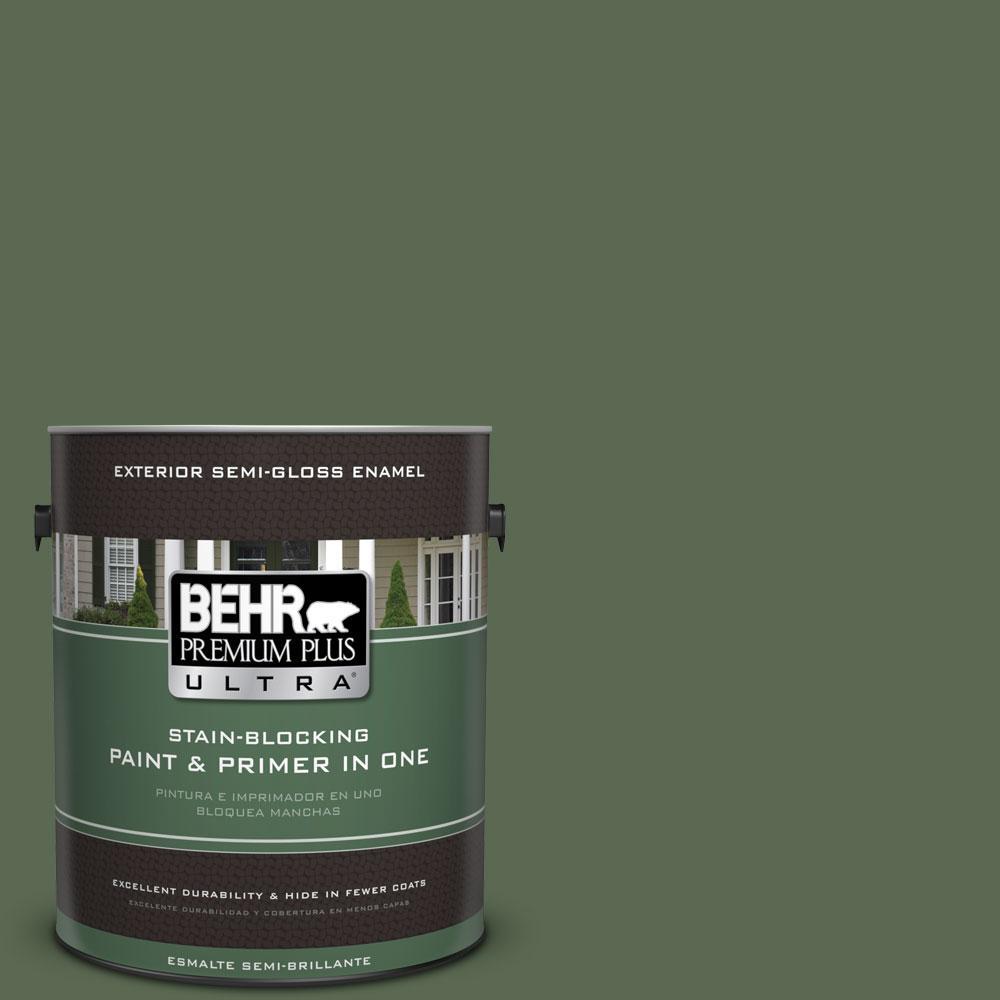 BEHR Premium Plus Ultra 1-gal. #S390-7 Trailing Vine Semi-Gloss Enamel Exterior Paint