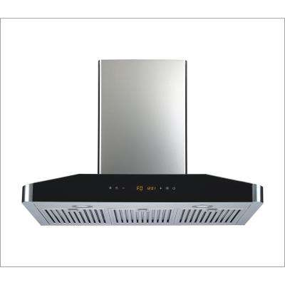 30 in. Convertible Wall Mount Range Hood in Stainless Steel with 750 CFM, Baffle Filters and 5 Speed Touch Control