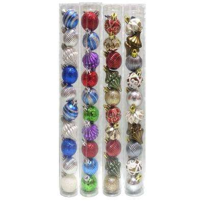 Holiday Traditions 1.5 in. Assorted Ornament Set (10-Pieces)