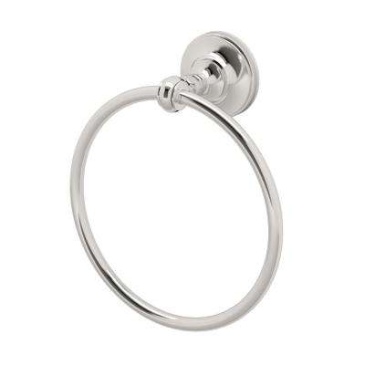 Tavern Towel Ring in Polished Nickel