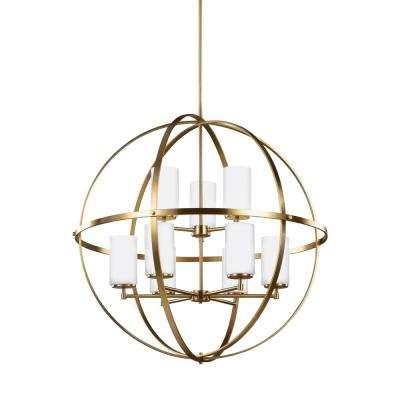 Alturas 32.5 in. W. 9-Light Satin Bronze Chandelier
