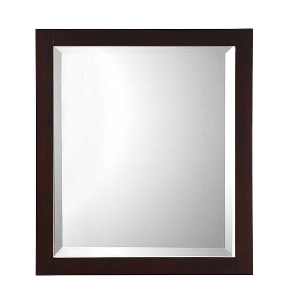 Home decorators collection fraser 32 in h x 28 in w framed single wall mirror in espresso - Home decor wall mirrors collection ...