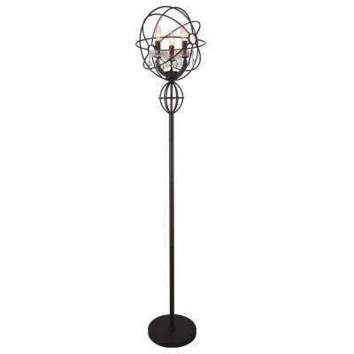 Campechia 65 in. Brown Floor Lamp