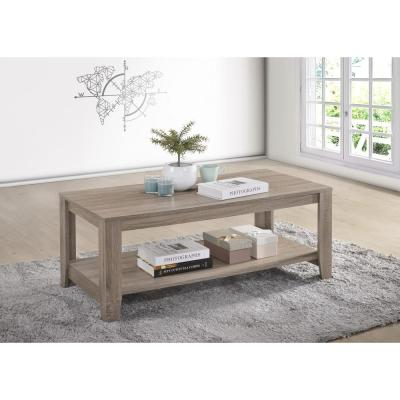 Progressive Furniture Barry Dark Taupe Cocktail Table