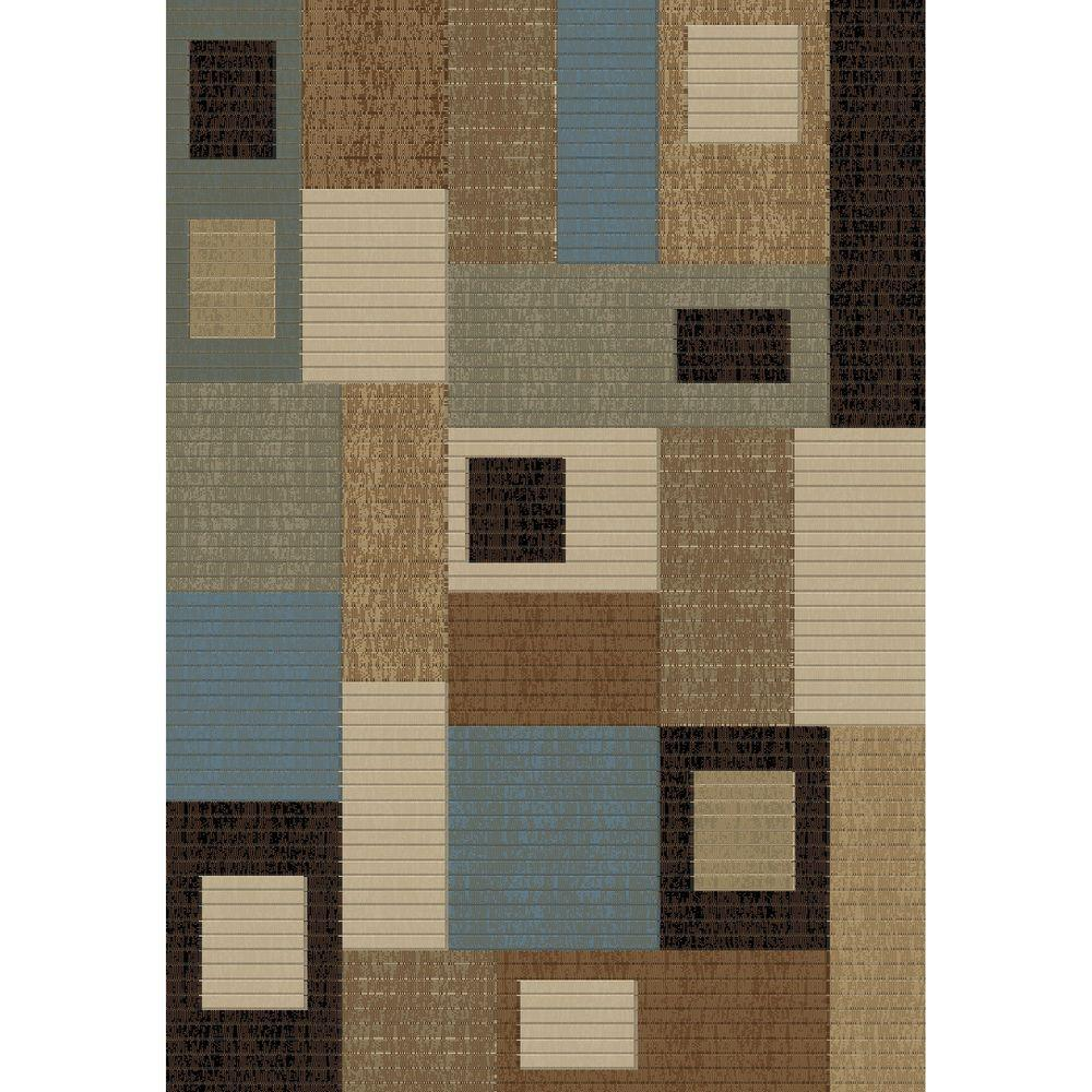 Concord Global Trading Soho Rectangles Blue 6 ft. 7 in. x 9 ft. 6 in. Area Rug