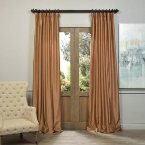Exclusive Fabrics & Furnishings Semi-Opaque Flax Gold Vintage Textured Faux... by Exclusive Fabrics & Furnishings