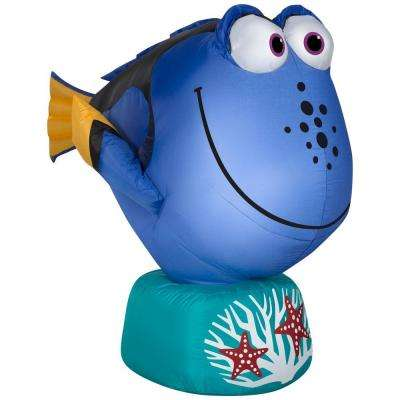 26.77 in. W x 42.13 in. D x 35.43 in. H Lighted Inflatable Dory