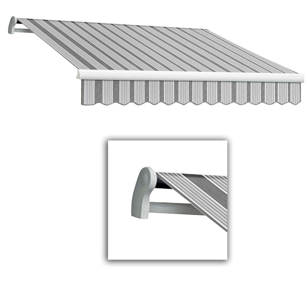 AWNTECH 16 ft. Maui-LX Left Motor Retractable Acrylic Awning with Remote (120 in. Projection) in Gun/Grey