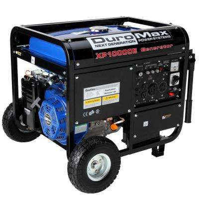 8,000-Watt Gasoline Powered Electric Start Portable Generator with Wheel Kit
