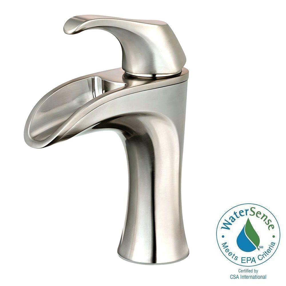 Pfister Brea 4 in. Centerset Single-Handle Bathroom Faucet in Brushed Nickel