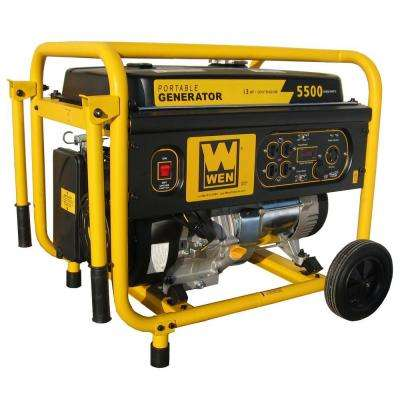 5,500-Watt Gasoline Powered Portable Generator with Wheel Kit