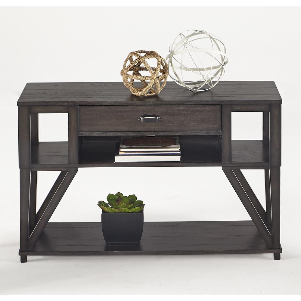 Progressive Furniture Consort Midnight Oak Sofa/Console Table T425-05