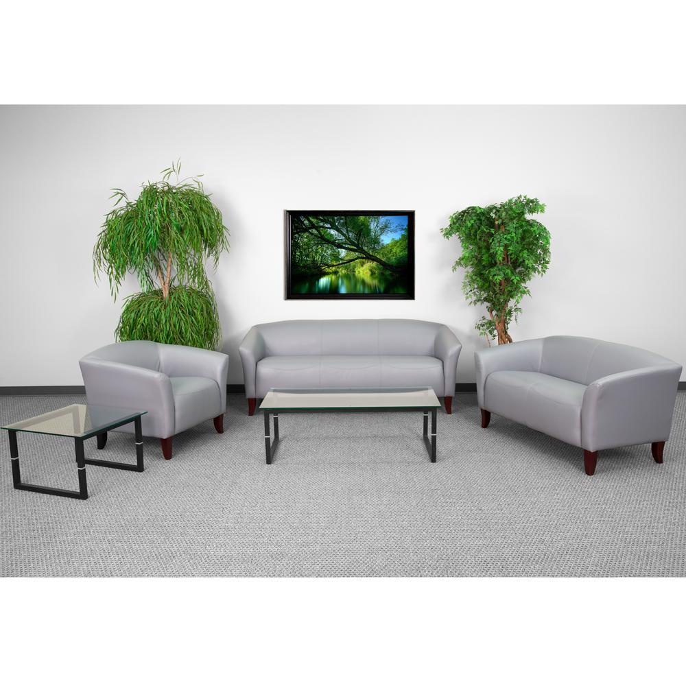 Flash Furniture Hercules Diplomat Series 3-Piece Gray Reception Set ...
