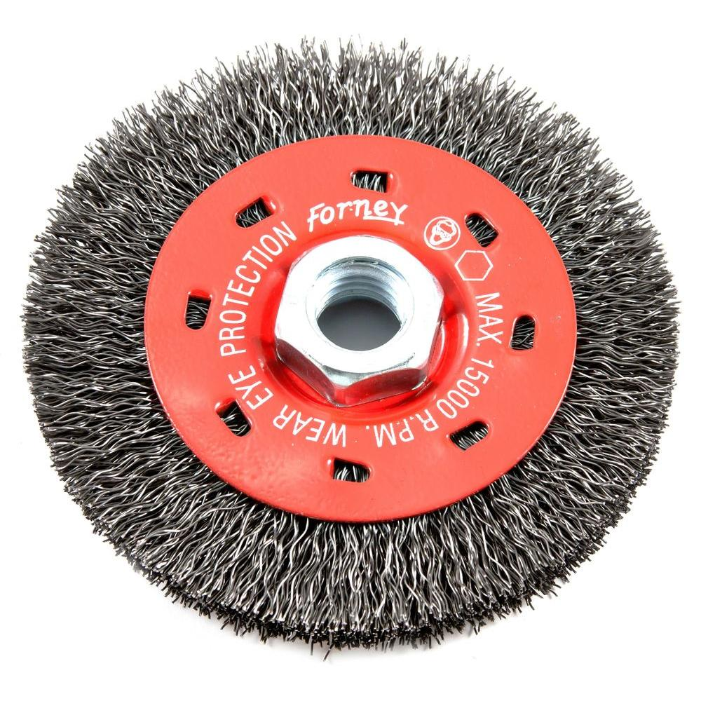4 in. x 5/8 in.-11 Threaded Arbor Coarse Crimped Wire Wheel