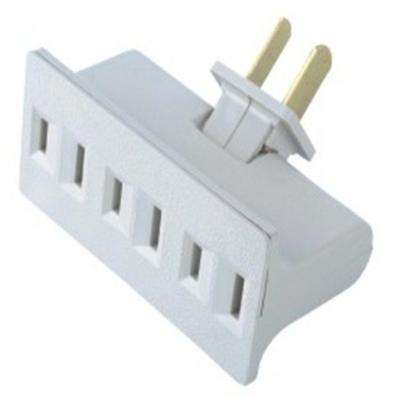 15 Amp Swivel Triplex Outlet, White