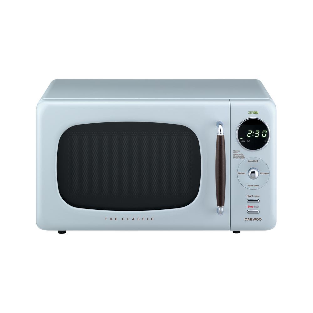 Retro 0.7 cu. Ft. Countertop Microwave in City Blue