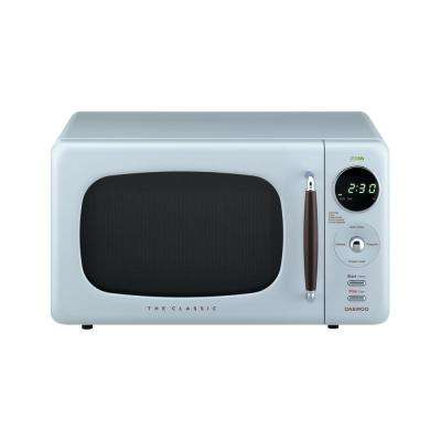 Retro 0.7 cu. Ft. Countertop Microwave in City Blue