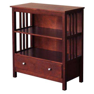 Hollydale Chestnut 1-Bottom Drawer Bookcase