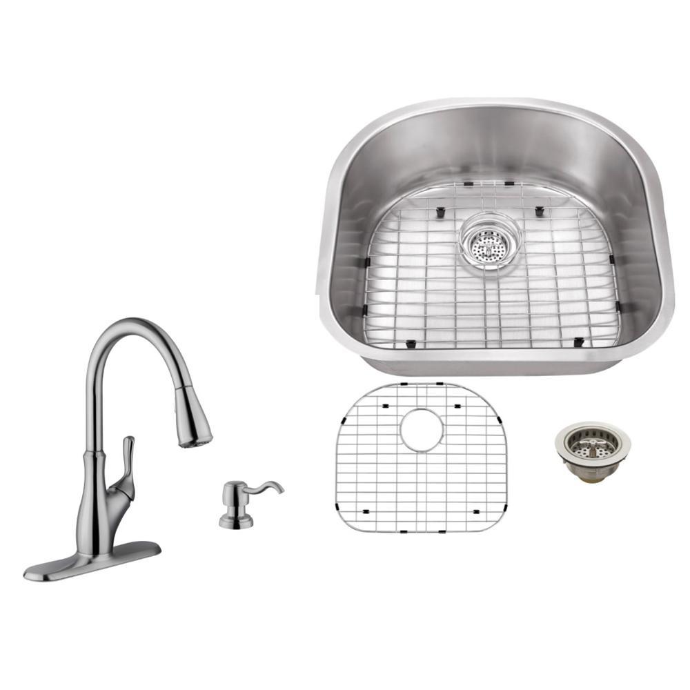 Ipt Sink Company Undermount 23 In 16 Gauge Stainless Steel Kitchen