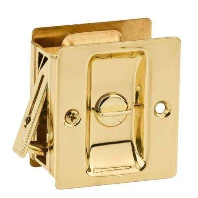 Notch Polished Brass Privacy Pocket Door Lock