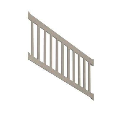 Walton 3 ft. H x 96 in. W Khaki Vinyl Stair Railing Kit
