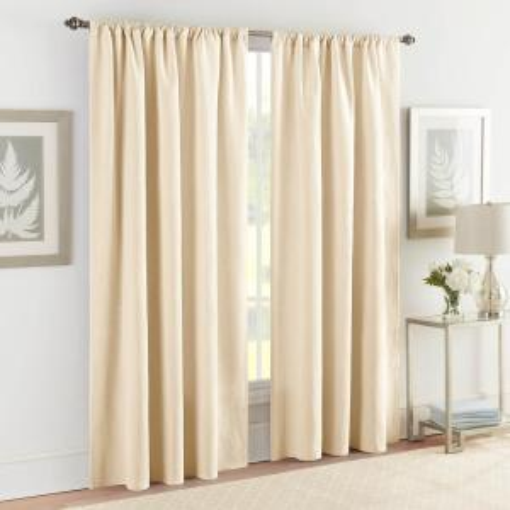 Ivory Room Darkening Curtains