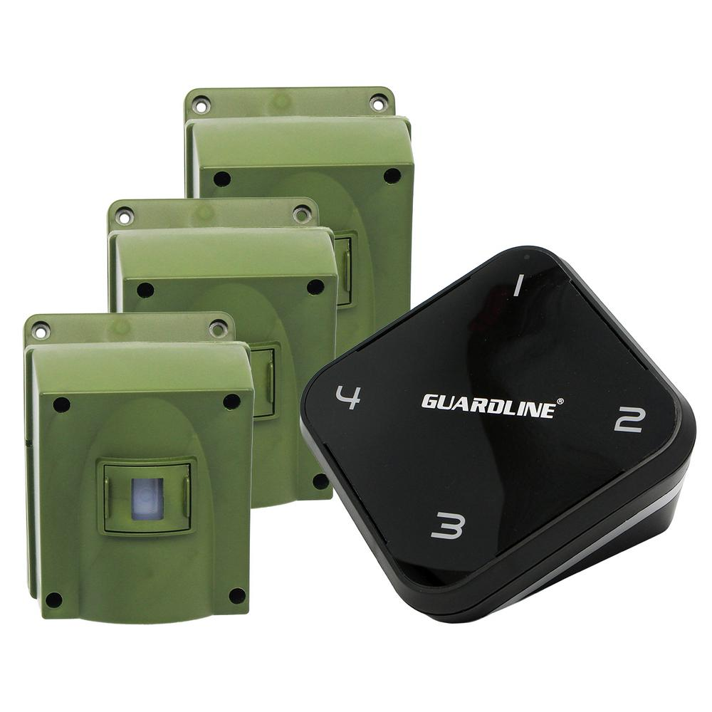 1/4 Mile Long Range Wireless Driveway Alarm with 3-Sensor Kit